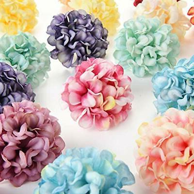 Flower In For Crafts Artificial Pompom Carnation Fake Head