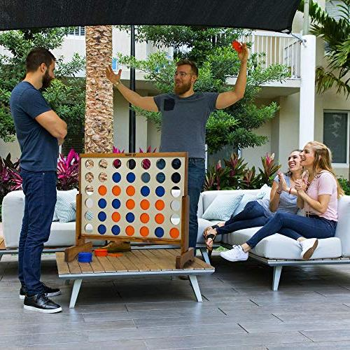 Giant 4 in A Row, 4 Score Connect Game Set 4' by Rally Roar Oversized Party Games for Lawn, Parties, Game