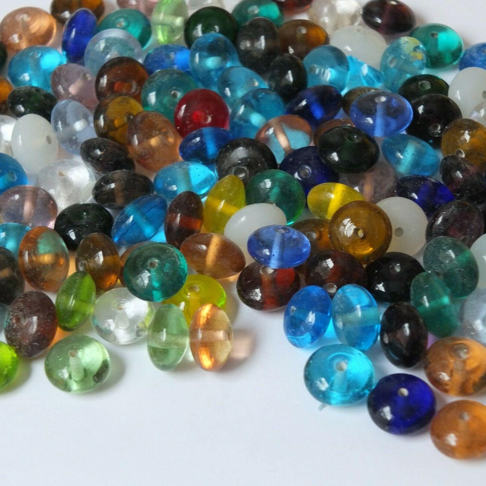 Glass Bead Transparent Discs 15mm Pack 1/4kg in India.