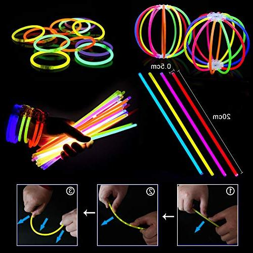Glow Sticks Bulk Glow in Party Favors 50 Glow Led Glasses,Light Up Rings Kid Party