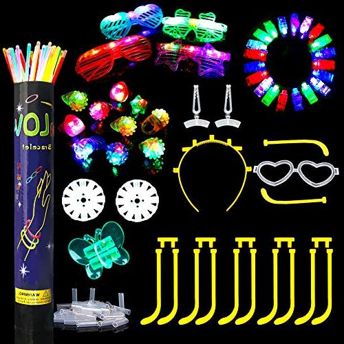 Glow Bulk LED Party Favors 50 Led Up & Kid Birthday Party