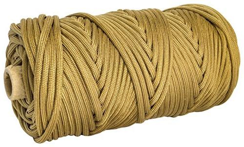 TOUGH-GRID 750lb Paracord/Parachute Cord Mil 750lb by the US 100% - In The 200Ft - Grizzly
