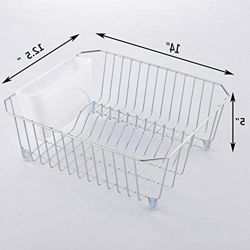 IKEBANA In-Sink Finish Wire Rack, Small With Plastic Utensils