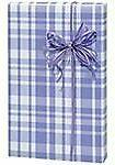 Lavender Light Purple Plaid Gift Wrap Wrapping Paper Roll 16