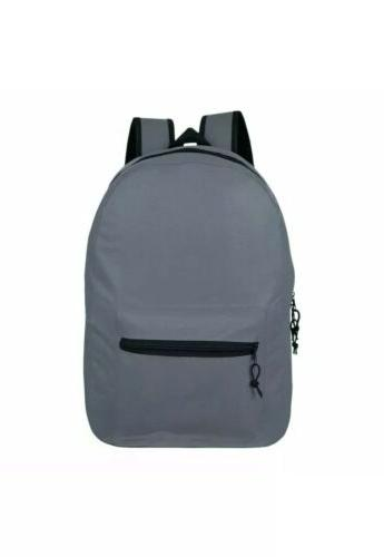 Lot of Wholesale Backpack For Basic 6 Assorted Colors -