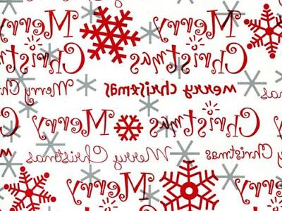 merry christmas red silver christmas gift wrap