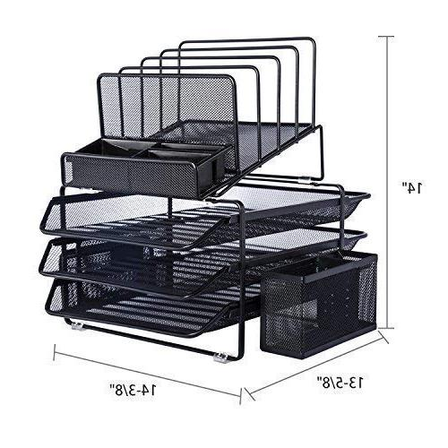 with 3 Tray and 4 Sections with Black