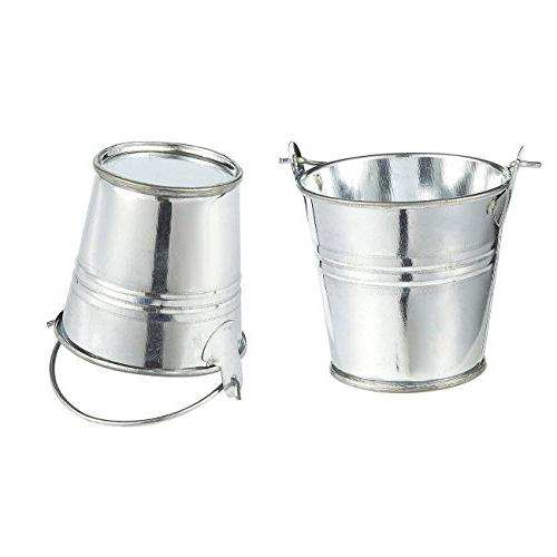 2-Inch Small - Mini Pails Handles - Party Favors, Candles, Small Plants -