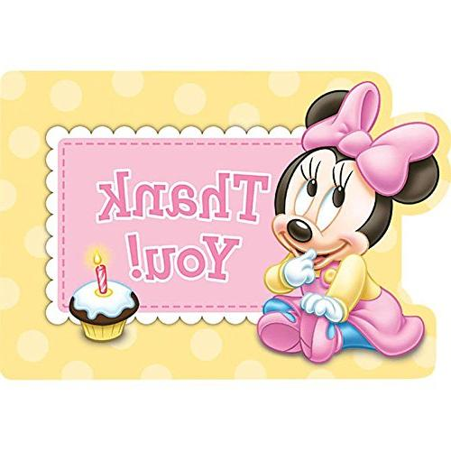 minnie mouse birthday thank you