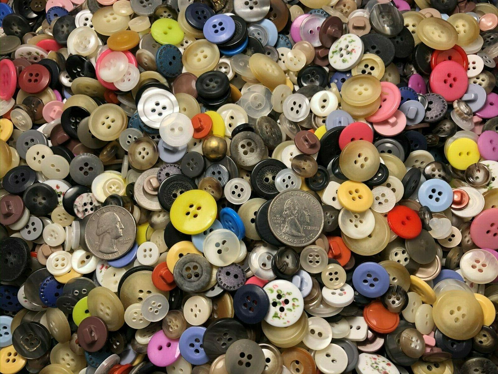 New lots Buttons assorted color and 1/4 inch to 3/4