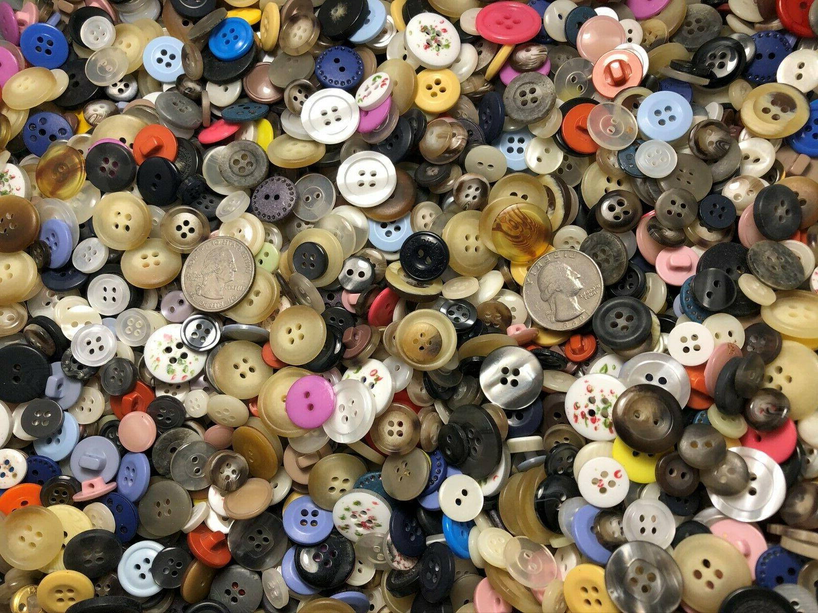 New lots Buttons assorted mixed color and inch