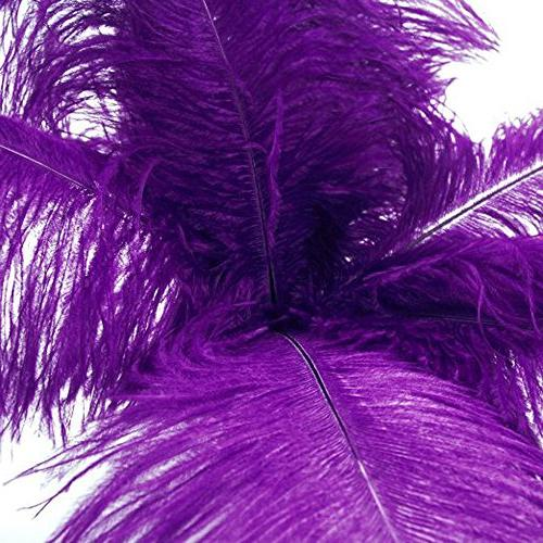 ostrich feather purple feathers wedding