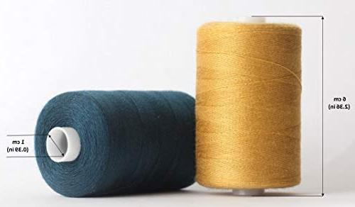 SEWING Polyester Threads in 24 Assorted 1000 yds and Machine