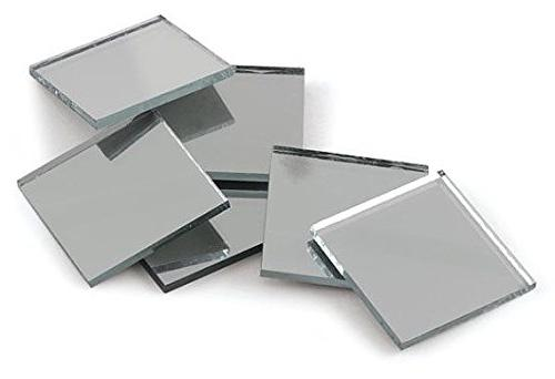 silver coated square mirror tiles
