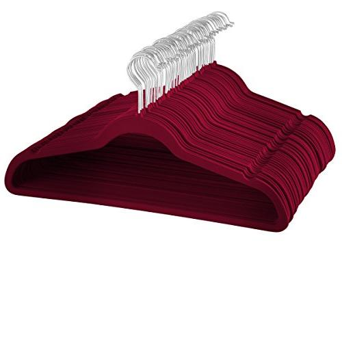 space saving luxurious velvet hangers