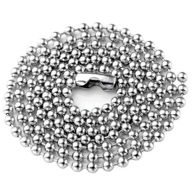 5pcs Stainless Steel Ball Solid Chain Findings