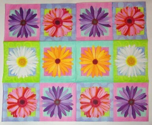 TWO Floral BLOOM Daisy 33cm Crafts 2p