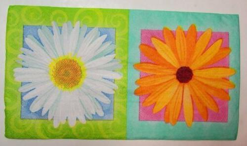 two 2 paper napkins decoupage floral in