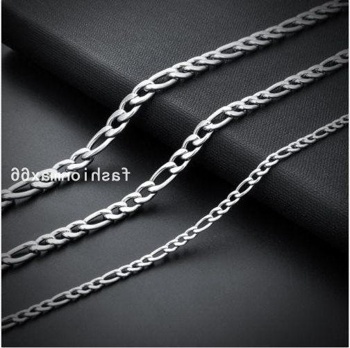 Wholesale Of Silver Stainless Steel Figaro Chain
