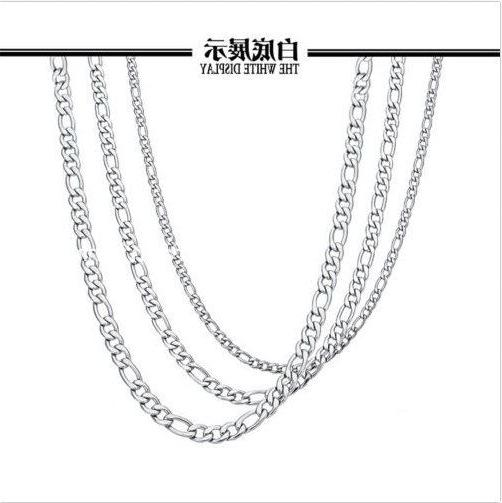 Wholesale In Bulk Lot Of Stainless Figaro Chain Necklace