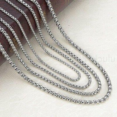 Wholesale in bulk Stainless Box Rolo Necklace