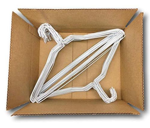 Wire Hangers Bulk - Metal Hangers - Inch Thin Standard Dry Cleaner Coated