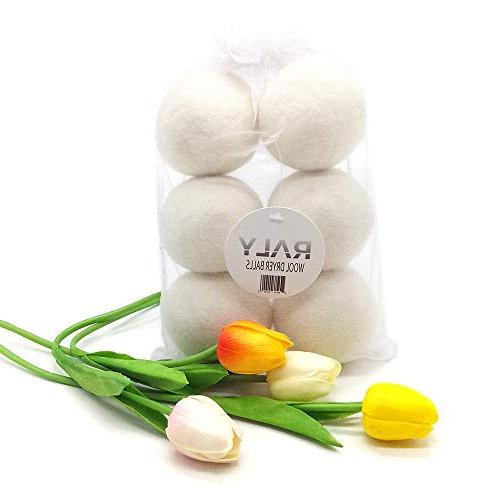 XL 6-Pack, Alternative Dryer 100% Zealand Wool, Non Toxic, Hypoallergenic, Included.