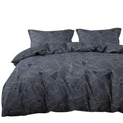 Wake In Cloud - Leaves Duvet Cover Set, 100% Cotton Bedding,