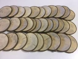 Lot 25 Rustic Natural Wood Coasters 2.5to 3in  Slices ~Craft