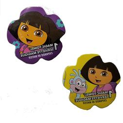 Lot of  Dora the Explorer Magic Towels, Boots, Designs Vary,