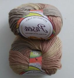 Lot of 2 Skeins Plymouth Yarn Pasea Yarn in Color#1023    Al
