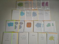 Lot of 28 New Greeting Cards, Sarcastic, Divorce, Relationsh
