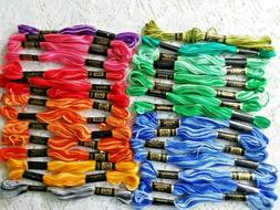 lot of 30 skeins varigated six strand
