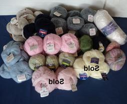 Lot of 53 Balls of Mohair Yarn Made In France and Italy Vari