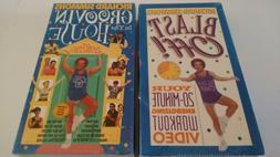 Lot Richard Simmons VHS Blast Off Work Out Groovin in House