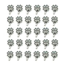 QTMY 30 PCS 5mm Macroporous Fur-leafed Clover Spacer Beads f