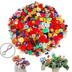 1220 PCS Mixed Colors Size Assorted Bulk Buttons for Crafts