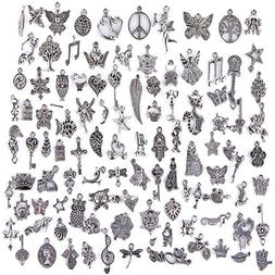 Hraindrop Wholesale 100 Pieces Mixed Pendants Charms for Jew