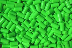 100pc NEON Green Tube Beads for Bird Toys Crafts Rave Jewelr