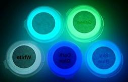Neutral 5 Color Pack Glow In The Dark Pigment Powder - 12g E