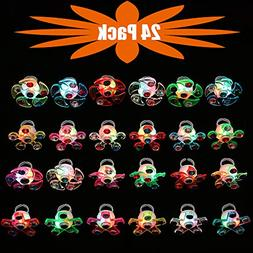 Mikulala Novelty 24 Pack Light Up Rings Fidget Toys For Kids