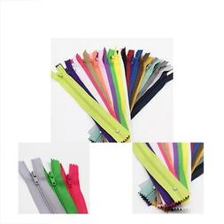 80pcs 14 Inch  Nylon Coil Zippers For Tailor Sewing Crafts B