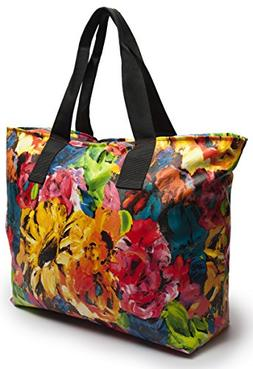 Large Nylon Tote Bag For Shopping, Beach, Sports, Gym - With