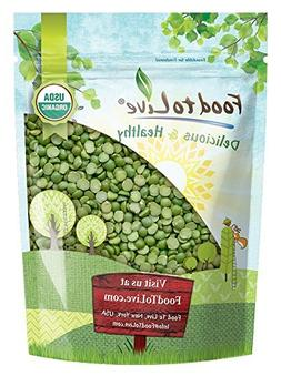 Organic Green Split Peas by Food to Live  — 1 Pound