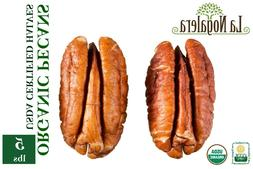 ORGANIC Raw Shelled Natural Pecan Nut Halves in Bulk and Vac