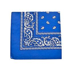 Pack of 7 XL Non Fading Paisley 100% Polyester Bandanas 27 x