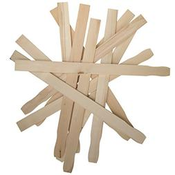 Paint Sticks 12 Inch Paddles -Bulk Pack of 100 Sanded Hardwo