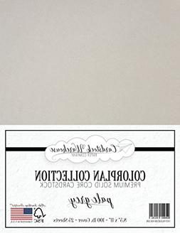 PALE GREY Cardstock Paper - 8.5 x 11 inch Premium 100 lb. Co