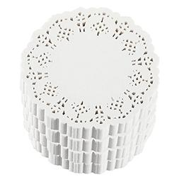 Paper Doilies – 1000-Pack Round Lace Placemats for Cakes,