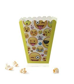 """Paper Popcorn Fries Boxes  3"""" X 3"""" X 4"""" For Movie Party"""